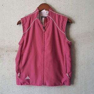 adidas active wear performancevest pink size small